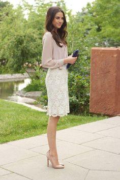 2015春夏♥シンプル派のレースタイトスカートのオフィスコーデの8枚目の写真 | マシマロ