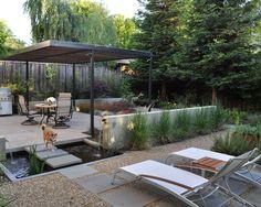 aménagement du coin de détente dans le jardin