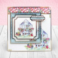 Card created from Hunkydory Crafts' House for Flowers Topper Set Hunkydory Crafts, Heartfelt Creations, Hunky Dory, Card Making, Happy Birthday, Paper Crafts, Create, Giveaway, Card Ideas