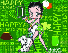 Betty Boop St. Patrick's Day Card
