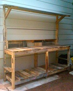 » Pallets - potting bench/outdoor craft space / cooking stating