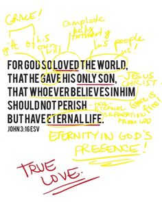 the love of God is true love. (happy valentine's day)