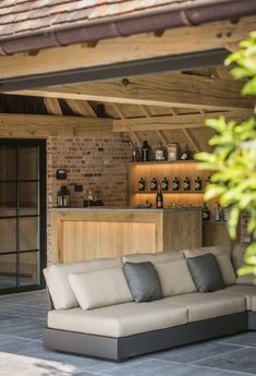 - Nici Anders - Celebrating the Pretzel! Outdoor Living Rooms, Outside Living, Outdoor Kitchen Bars, Barn Renovation, Lounge Areas, Bar Lounge, Pool Houses, Interior Design Living Room, Home And Living