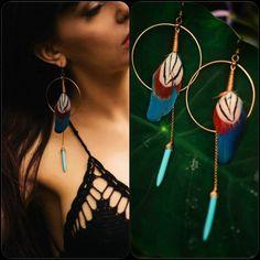 Om Lexi Jungle Hoop Earrings