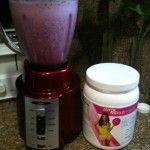 JNF Smoothie - 1 scoop of French Vanilla fat free JNF Protein, 1 C sliced strawberries, 1 C mixed blueberries and blackberries, 1/2 C raspberries, 1/2 C chopped spinach (do not replace with another green as spinach is tasteless in the mix & others are not), 1/2 C of water, 1 tsp of flax seeds. Blend up smooth and enjoy all the beautifying benefits!