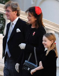 Princess Caroline of Hanover and Monaco with husband and youngest daughter
