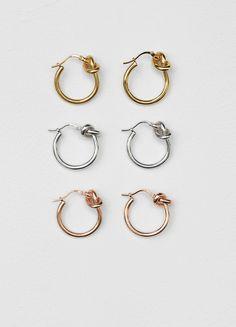 Knot Small Hoop Earrings - Céline