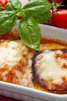 Easy Cheesy Eggplant Casserole (Weight Watchers)