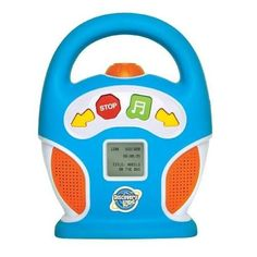Discovery Kids 256MB Kids Digital Boombox MP3 Player by Discovery. $53.00. Bring the wonderful world of music to your child with the Discovery Kids Digital MP3 Boom Box. Ideal for ages 3 and up, this rugged carry-along plays MP3 or WMA audio files downloaded from your computer for portable music any time, anywhere.    With its 256MB of internal memory storage, just connect to your computer via the USB cable (included) for downloading music, stories and other audio files. E...