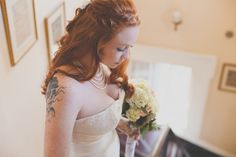 #wedding #hair #braid #down #red Real New Orleans City Wedding Downtown Benachi House by Hazelwood Photo on Marry Me Metro http://marrymemetro.com