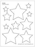 Various-sized stars