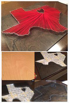 Dallas Skyline String Art Texas Flag Dallas Art Texas Art