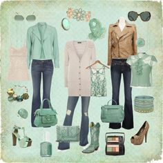 """SHADES OF SEAFOAM"" by jlca on Polyvore"