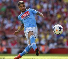 ~ Lorenzo Insigne of Napoli against Arsenal FC ~