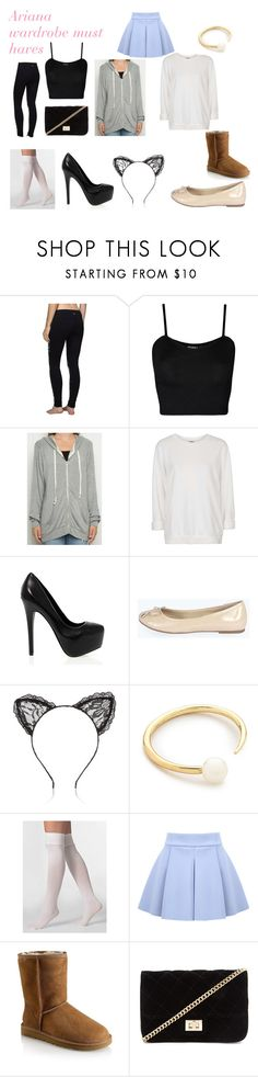 """ariana wardrobe must haves"" by ariana-grande-style-100 ❤ liked on Polyvore featuring lululemon, WearAll, Topshop, Steve Madden, Boohoo, River Island, Jules Smith, American Apparel, UGG and Forever 21"