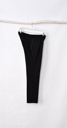 Black Georgette Pleated Trousers by HannaBoutiqueHB on Etsy, €34.00