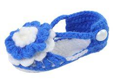 Bigood(TM) 1 Paar Strickschuh One Size Strick Schuh Baby Unisex süße Muster 11cm Blume Königsblau - http://on-line-kaufen.de/bigood/koenigsblau-bigood-tm-1-paar-strickschuh-one-size
