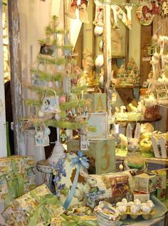 Vintage Easter Decorations & Ornaments...like the letters hanging.  Maybe cut some out. Of pretty scrapbook papers.