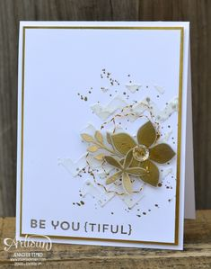 """By Jennifer Timko, """"Be You {tiful}"""", featuring Stampin' Up! stamp sets """"Flower Patch"""" and """"Gorgeous Grunge"""" thinking use punch or chevron embossing folder Flower Patch, Cards For Friends, Scrapbook Cards, Scrapbooking Ideas, Flower Cards, Creative Cards, Greeting Cards Handmade, Homemade Cards, Stampin Up Cards"""