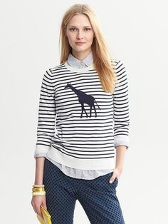 Giraffe Striped Pullover at ShopStyle