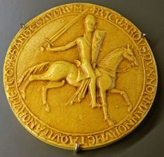 Richard I's great seal of 1189 Counter seal (1195) of Richard I of England. Exhibited in History Museum of Vendée - Les Lucs-sur-Boulogne, Vendée