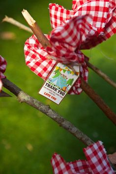 Camping favors at a Summer Party! See more party ideas at CatchMyParty.com!