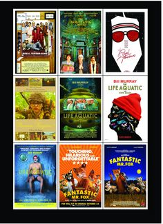 Wes Anderson Movie Posters magnets : The Collection