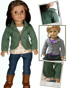 One of my favorite jackets for American Girl Dolls...