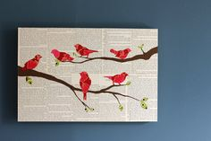 This I like a lot! Use pages from one of aunt Gus-Gus's bird books. Fantastic. Come over and craft with me, Lisa Kildoo!