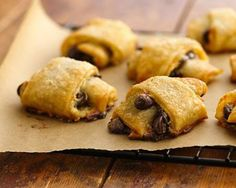 Chocolate Orange Pastries - pie crust, cream cheese, orange marmalade, chocolate chips. Sounds pretty tasty!