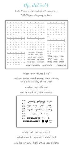 Let's Make a Date Stamp Set by Damask Love Blog $27