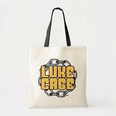 Luke Cage | Name in Chains Graphic Tote Bag   marvel art, marvel xmen, marvel diy #Marvelmovies #MarvelComic #marvellous, 4th of july party Thanos Marvel, Marvel Art, Luke Cage, 4th Of July Party, Design Your Own, Cotton Canvas, Chains, Reusable Tote Bags, Names
