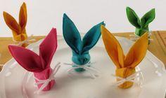 Rabbit Napkins Folding - How to Easter Kids Origami Tutorial DIY Paper Crafts:Bunny.Rabbit Napkins Folding - How to Easter Kids Origami Tutorial, My Crafts and Kids Origami, Useful Origami, Origami Easy, Origami Paper, Bunny Origami, Napkin Origami, Origami Folding, Bunny Napkin Fold, Paper Napkin Folding