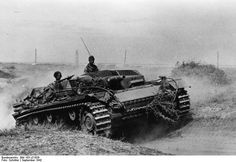 German StuG III ( tank destroyer) during the battle of Stalingrad. Russia  September 1942