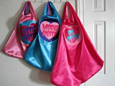 Sister Gifts SUPERHERO capes for girls.  Big by SuperCuteCostumes, $27.00