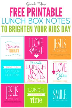 I love the idea of putting lunch box notes for kids to find in their lunch boxes or backpacks. Especially for Kindergarteners going to school for the first time and dealing with separation anxiety from Kids Lunch Box Notes, Cute Lunch Boxes, Cleaning Schedule Printable, Printable Planner, Free Printables, First Day Of School, Back To School, Bible Crafts For Kids, Prayers For Children