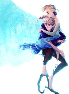 This might be one of my favorite Jelsa fan drawings I've ever seen!!! It's adorable!!!!!