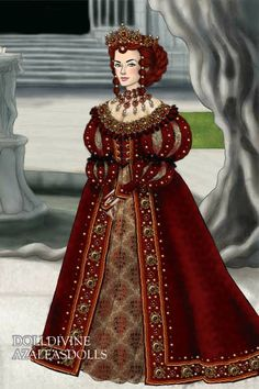 Red Queen of Throndell ~ by Inanna ~ created using the LotR Hobbit doll maker | DollDivine.com