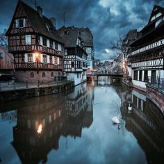 Strasbourg has been the subject of a centuries- long tug of war between France and Germany, and is all the more exciting and beautiful for… Places To See, Places To Travel, Wonderful Places, Beautiful Places, Places Around The World, Around The Worlds, Landscape Photography, Travel Photography, France Photography