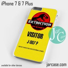 jurassic park visitor ticket Phone case for iPhone 7 and 7 Plus
