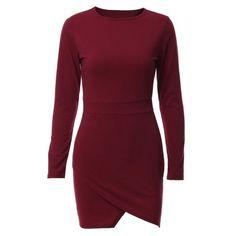 4dc4b600cc21 Fashion Womens Irregular Long Sleeve Bodycon Shoulder Mini Dress Ladies  Party Evening Women Dresses vestidos Short