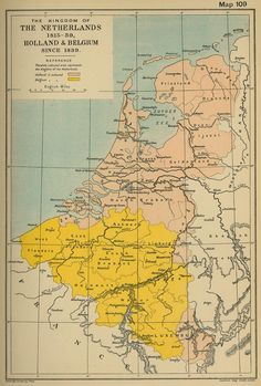 map of the netherlands 1815 39 holland and belgium since 1839