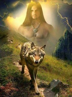 Native American Wolf, Native American Pictures, Native American Artwork, Native American Quotes, Native American Artists, American Indian Art, Native American History, Wolf Images, Wolf Pictures