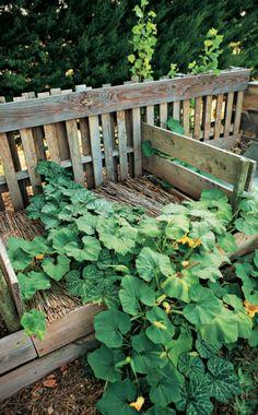 Komposter Gebaut Aus Terrassenlatten 50x50. | Garten | Pinterest Kompost Anlegen Richtige Pflege Garten