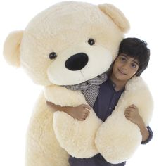 Giant Teddy - divinely soothing to the touch. A life size teddy bear is one of those gifts that everyone remembers forever, and Cozy Cuddles is ready to make you smile. This precious, well-proportioned bear is stuffed with love in the USA and measures 72 Huge Teddy Bears, Teddy Bear With Heart, Large Teddy Bear, Giant Teddy Bear, Personalised Teddy Bears, Teddy Bear Birthday, We Bear, Panda Bear, Cuddling