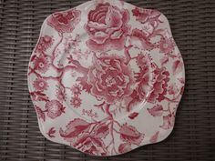 Johnson Brothers Bros Red Pink English Chippendale Salad  Plate #JohnsonBrothers Johnson Brothers China, China Patterns, China Dinnerware, Salad Plates, Red And Pink, English, Ebay, Chinese Patterns, English Language