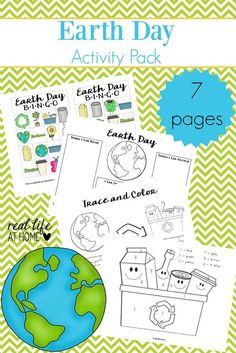Earth Day Worksheets Packet | Free Earth Day Printables | Earth Day Games | Earth Day Activities | Earth Day Fun