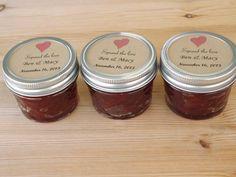 Spread the Love Wedding Favors Jam Jar by JirehCraftyCreations, $30.00