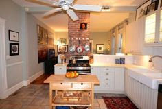 farmhouse kitchen exposed chimney - Google Search