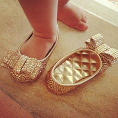 gold shoes for babies too cute!!